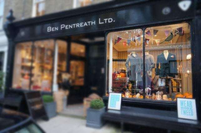 Fascia of Pip Howeson Pop Up at Ben Pentreath